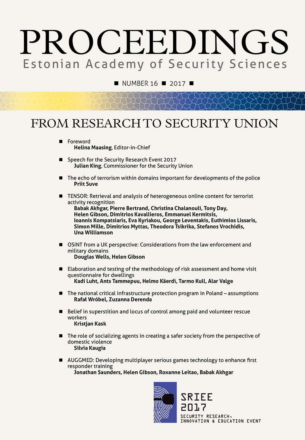 From Reasearch to Security Union