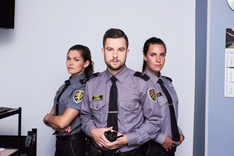 three officers